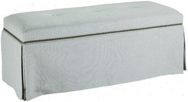 Skirted Bench With Nailhead Trim - Skirted, Protege Haze
