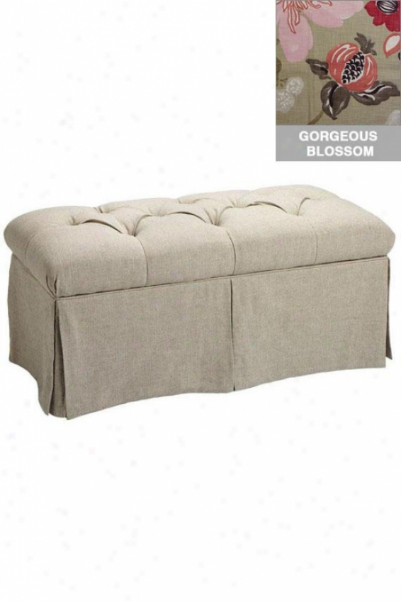 """skirted Storage Bench - 18""""x36"""", Gorgeous Blssm"""