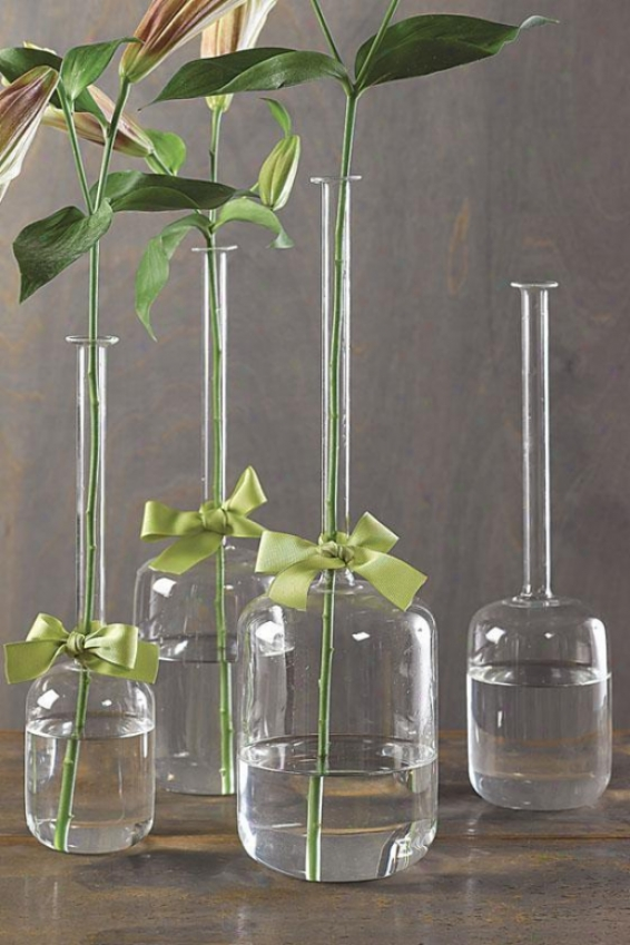 Slesk And Chic Jug Vases - Set Of 4 - Set Of 4, Green