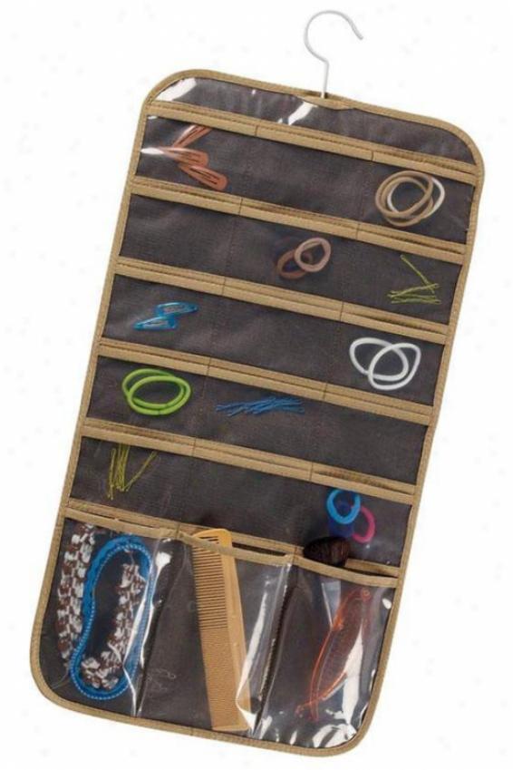 Slim eJwelry Organizer - Set Of 2, Coffee Linen