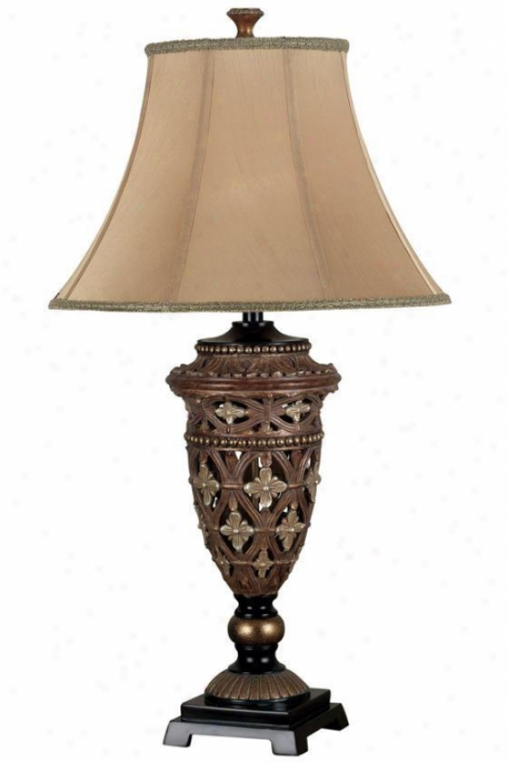 """sofie Table Lamp - 35""""hx19""""d, Bronze"""