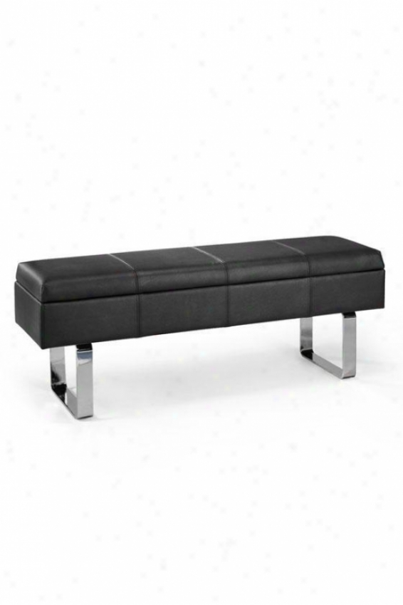 """soho Delfino 48""""w Storage Bench - 48""""w, Black"""