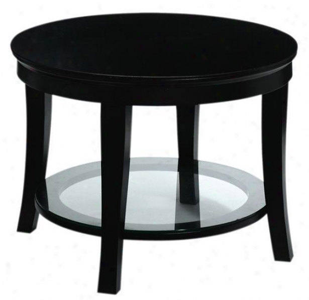 """""""sohp Randall Round Cocktail Table - 23.5""""""""w, Black"""""""