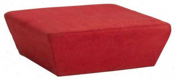 """soho Square Tapered Ottoman - 40""""w, Red"""