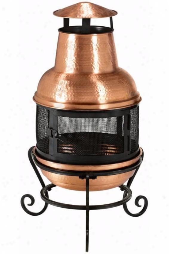 """""""solid Copper Chjminea - 32""""""""x16.5"""""""", Copper"""""""