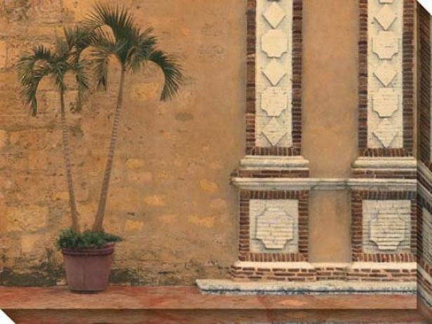 Solitsry Palm Iii Canvas Wall Art - Iii, Gold