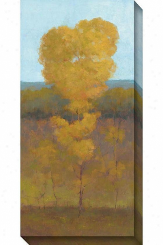 Solitray Tree Ii Canvas Wall Art - Ii, Yelkow
