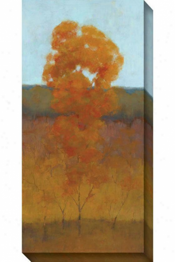 Solitary Tree Iii Canvas Wall Practical knowledge - Iii, Orange