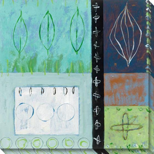 Solstice Iv Canvas Wall Art - Iv, Blue