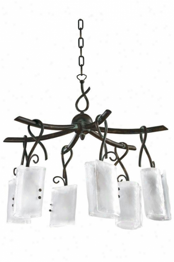 Somerset Chandelier - 6-light, Fr Cl/gld Grpht