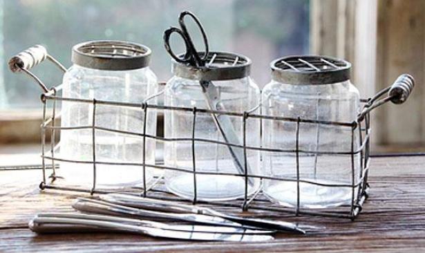 Somerset Glass Jars - Set Of Three, Gray