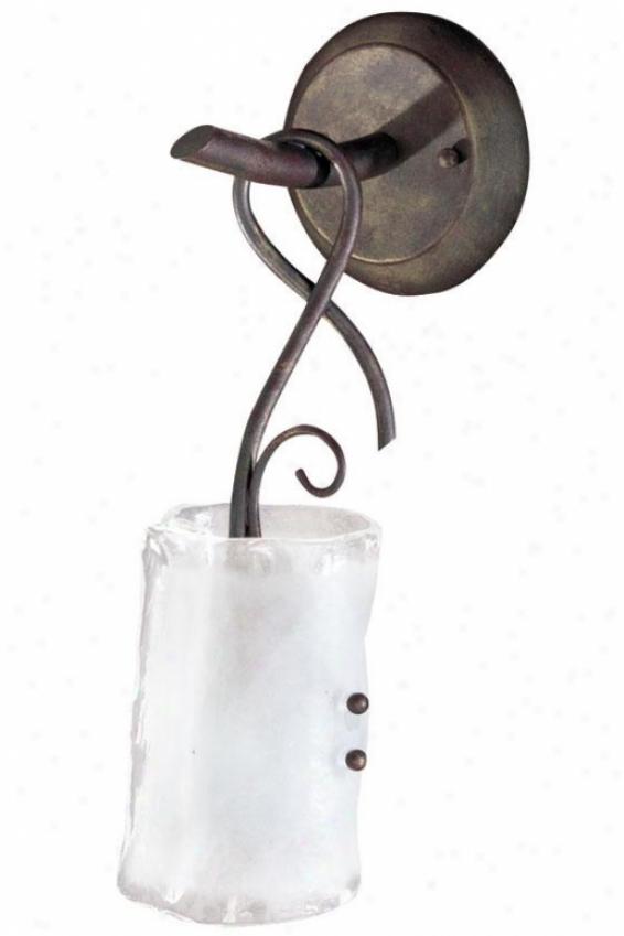 Somerset Sconce - 1-light, Fr Clr/gld Grph