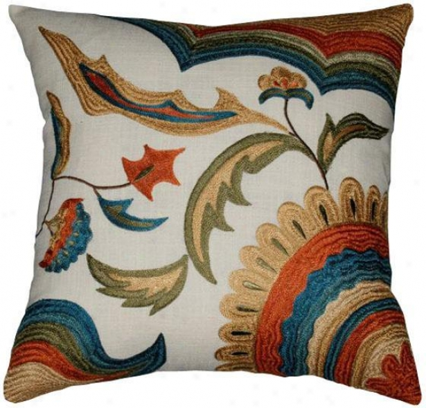 """Ballad Pillow - 18""""x18"""", Ivory"""