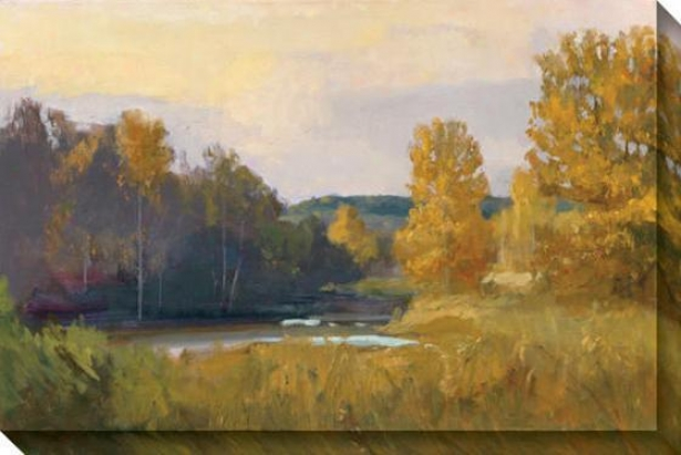 """south Fork Canvas Wall At - 32""""hx48""""w, Blue"""
