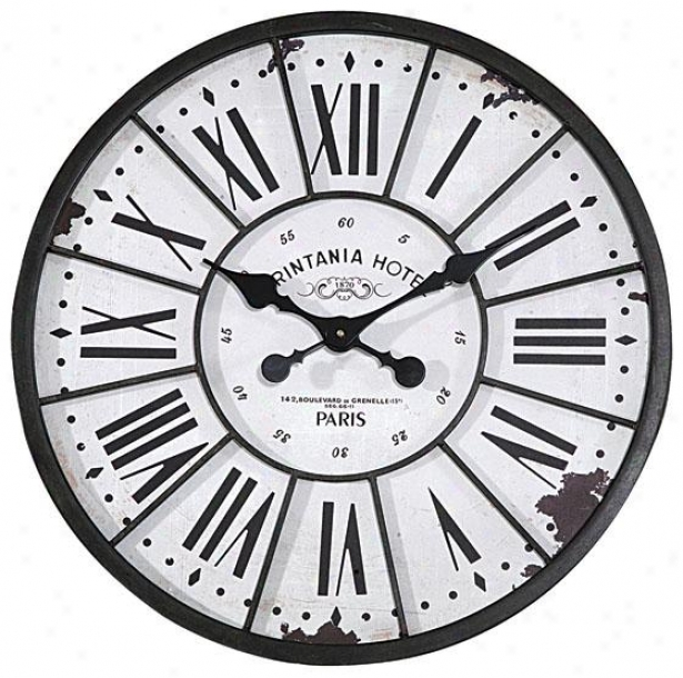 """southampton Clock - 24""""round X2""""d, Black"""