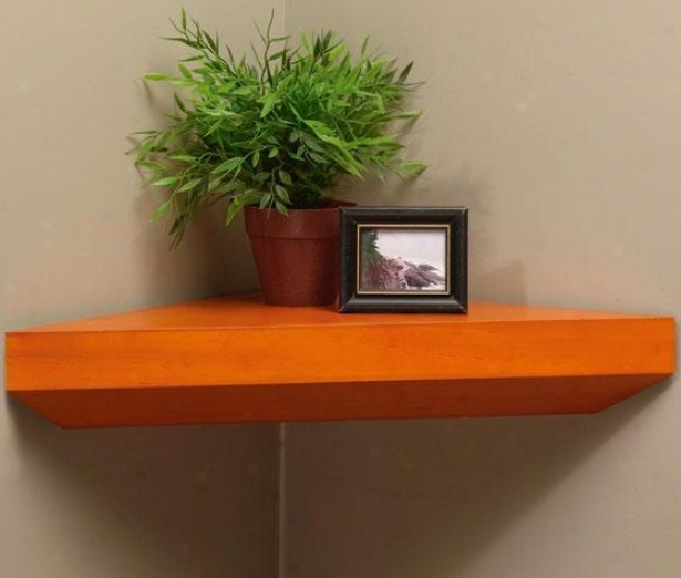 """southfield Corner Wall Shelf - 22.5""""w, Tan"""