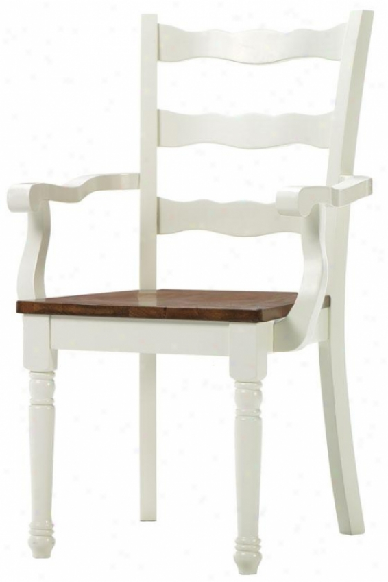 """southport Arm Chair - 38""""x23wx23.55"""", Ivory And Oak"""
