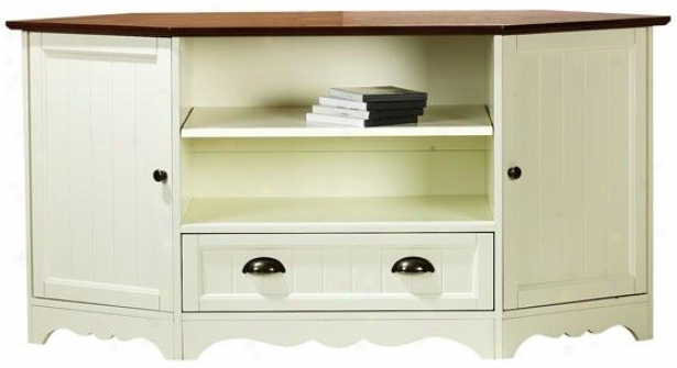 """southport Cornet Media Cwbinet - 26""""hx53""""wx20"""", Ivory And Oak"""