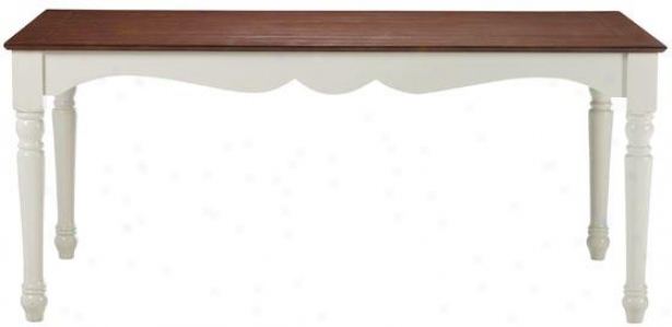 """southport Dining Tabpe - 29.5""""hx68""""wx36"""", Ivory And Oak"""