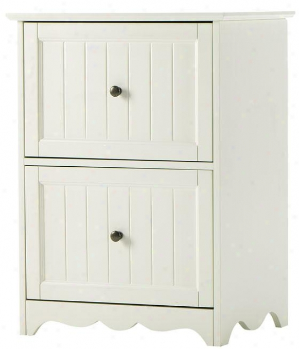 Southport File Cabinet - 2drw 29x21x16, Ivory