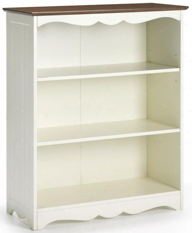 """southport Open 3-shelf Bookcase - 40""""hx32""""wx14"""", Ivory And Oak"""