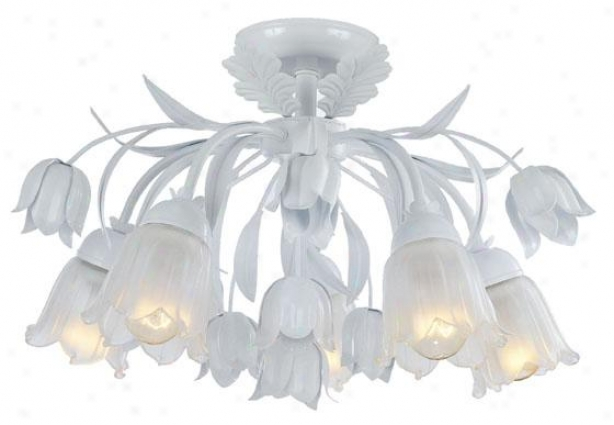 Southport Semi-flush Mount - 5-light, Wet White