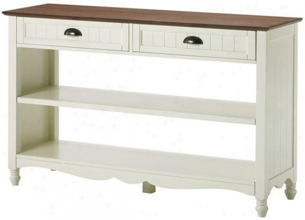 """southport Sofa Console Table - 30""""hx47""""wx15"""", Ivory And Oak"""