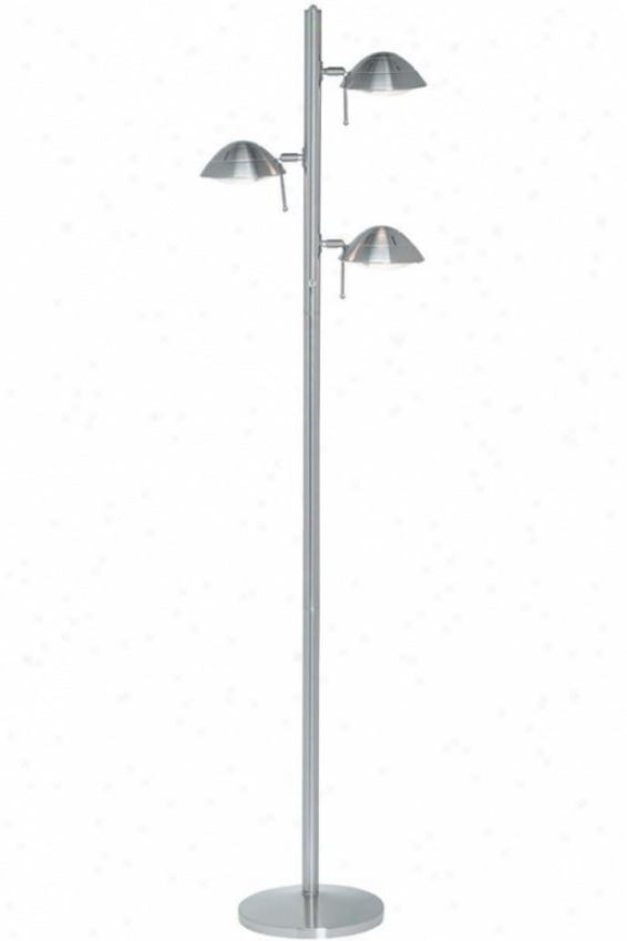"""space Traveler Floor Lamp - 67.5""""hx17""""d, Silver"""