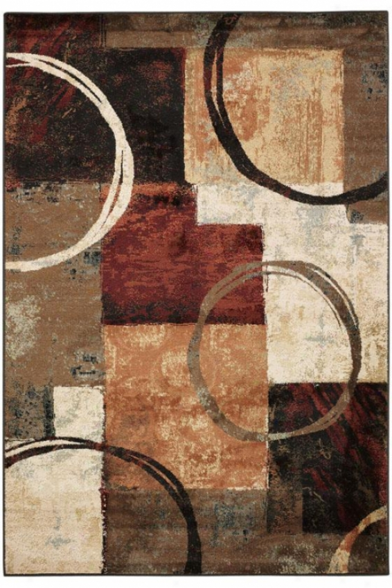 """spin Area Rug - 3'10""""x5'5"""", Brown"""