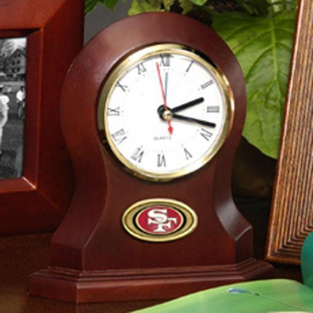 """sports Team Desk Clock - 6.65""""hx6""""wx2.25 49ers"""