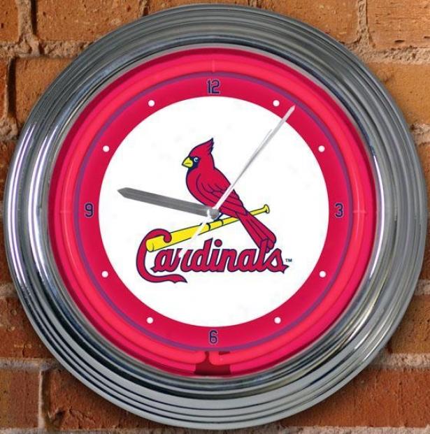 Sports Team Mlb Neon Clock - Mlb Teams, St Louis Cardnl