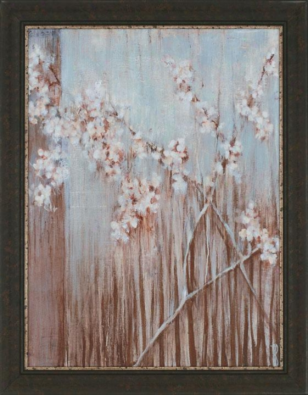 """spring Blossoms Wall Art - 46""h""x36""""wx2""""d, Blue"""