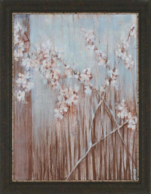 """spring Blossoms Wall Art - 46""h""x36""""wx2""""d, Blue"""