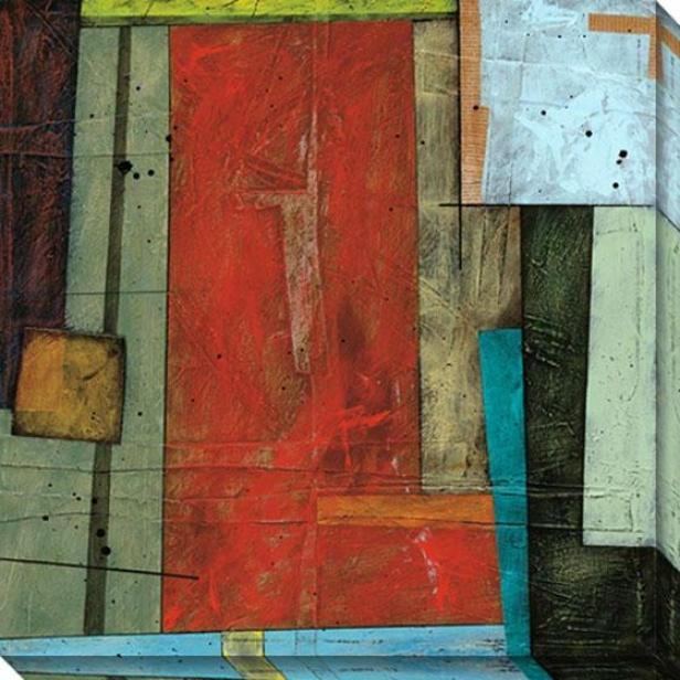 Spring Design I Canvas Wall Art - I, Red