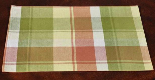 Spring Plaid Placemats - Suit Of 4 - Set Of 4, Pastel Plaid