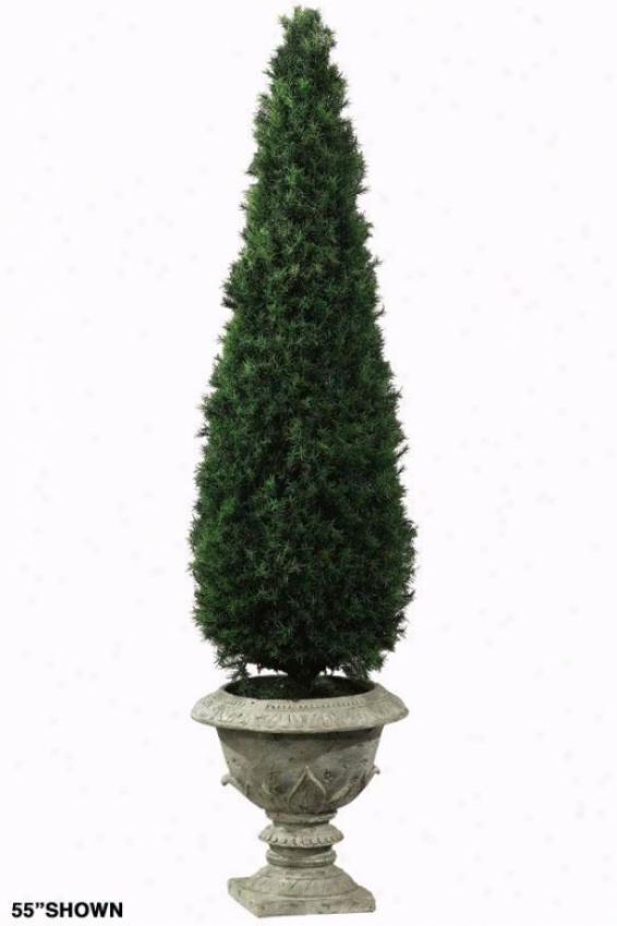 """""""springray Obelisk Topiary - 41""""""""h, Resin Base"""""""