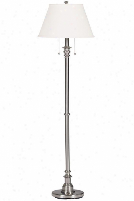 """spyglass Floor Lamp - 60""""h, Grey Steel"""