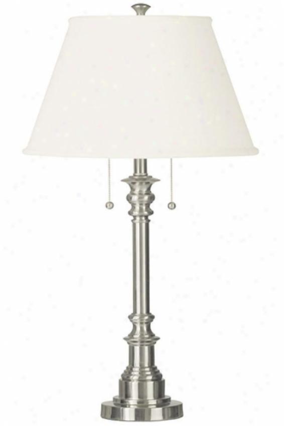 """spyglass Table Lamp - 31""""h, Grey Steel"""