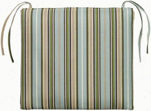 Square Chair Cushion - 20x20, Cilantro Stripe