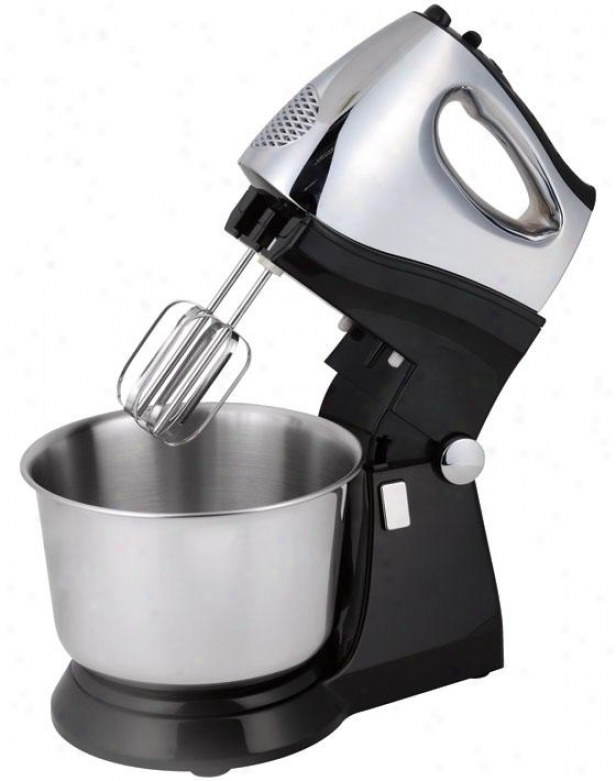 Stand Mixer - 9.5hx8wx11.5d, Black/stainless