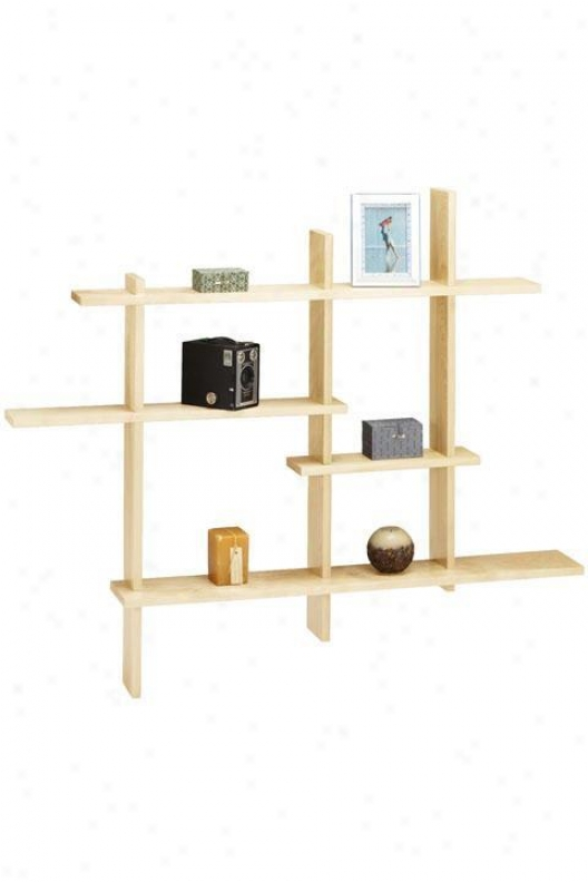 Standard Contemporary Display Shelf - Standrad, Brown Wood