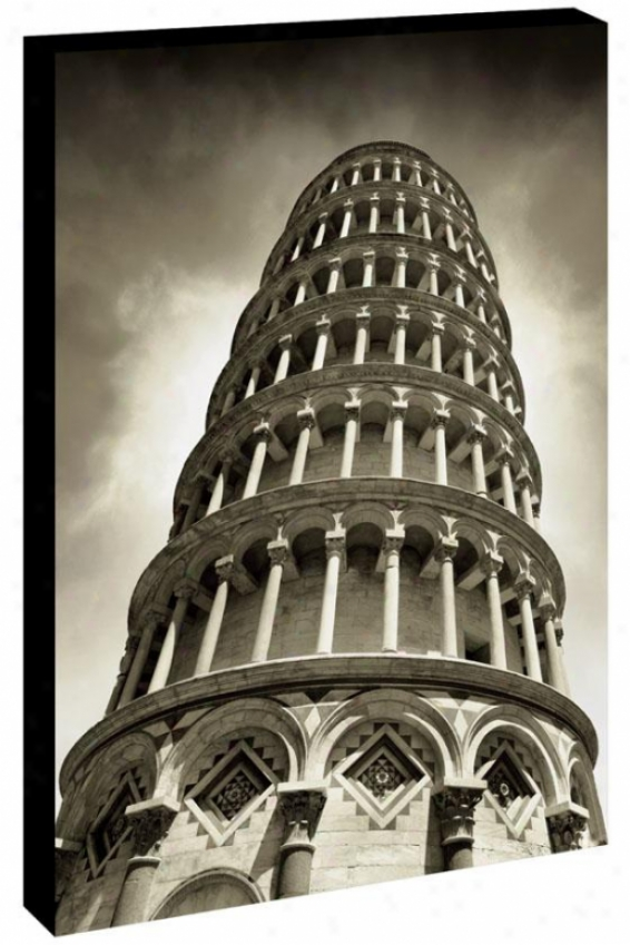 Standing Tall Wall Art - Pisa, Black And White
