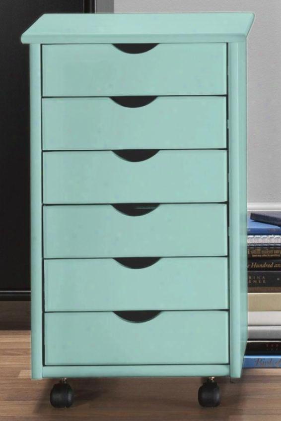 """""""stanton 6-drawer Storage Cart - 26""""""""hx15.5""""""""w, Blue"""""""