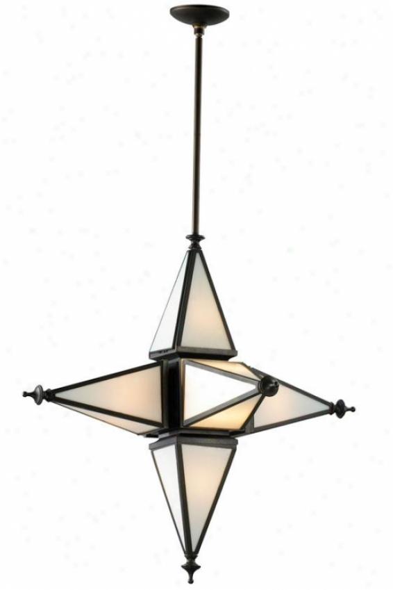 Star-orb Pendant - 6-ligut, Oiled Bronze