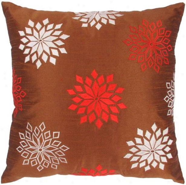 """starflake Decorative Pillow - 18""""x1""8"", Brown"""