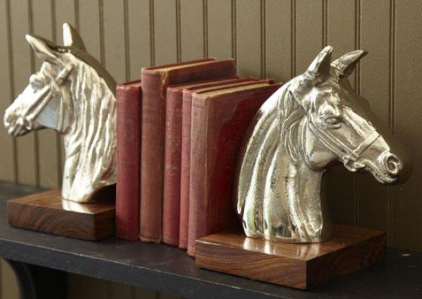 Steeplechase Bookends - Set Of 2 - Plant Of Two, Silver