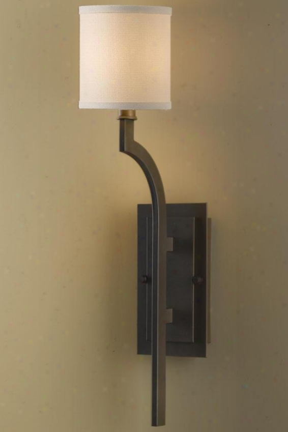 """stelle Wall Sconce - 22.75""""h X 4.75"""", Oil Rub Bronze"""