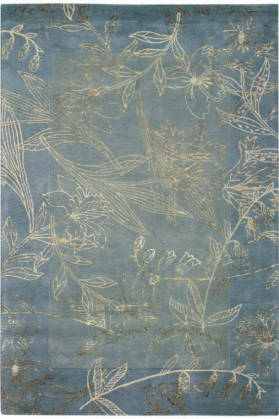 """stems Area Rug - 9'6""""x13'6"""", Blue"""