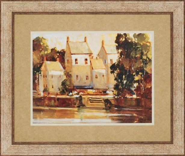 """""""steps To The Manor Wall Art - 39""""""""hx46""""""""wx2""""""""d, Gold"""""""