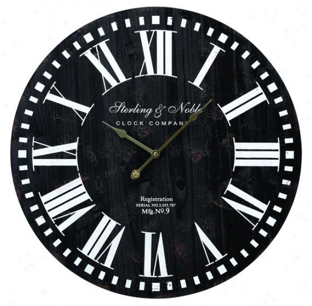 """sterling And Noble Wall Clock - 24""""diamx1""""d, Wicked"""